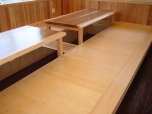 小上がり座敷ヒノキ板