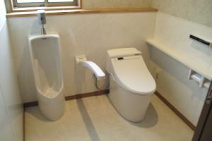広くゆったりとしたスペースのトイレ